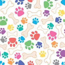 Vector Seamless Dog Pattern Wi...