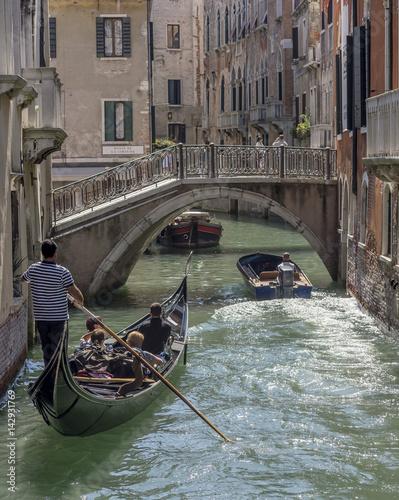 Spoed Foto op Canvas Gondolas Gondola, Venice, Italy