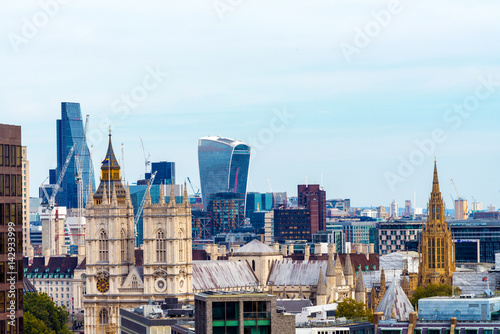 London skyline, old and new Canvas Print