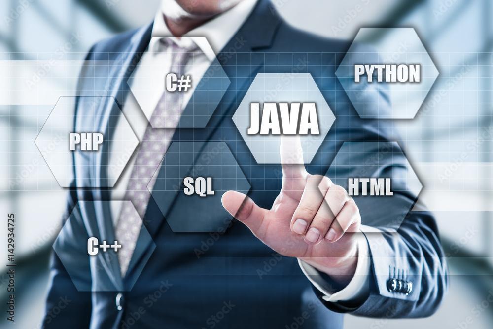 Fototapety, obrazy: Java Programming Language Web Development Coding Concept