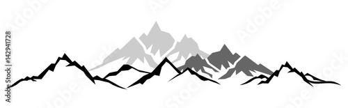 Obraz Silhouette Berge - fototapety do salonu