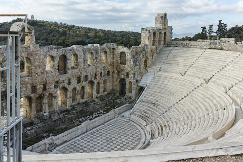 Photo Odeon of Herodes Atticus in the Acropolis of Athens, Attica, Greece