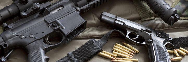 Handgun with rifle
