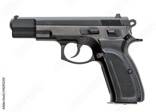 Stampa su Tela Handgun isolated on white background