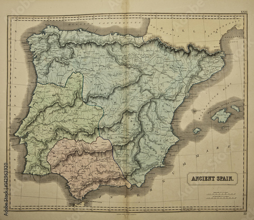 Spain Ancient Map Of The World Published By George Philip And Son