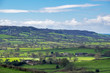 Scenic View of the Undulating Countryside of Somerset