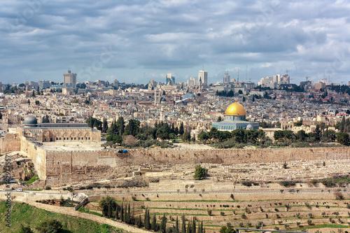 Fotografía Jerusalem Old City from the Mount of Olives