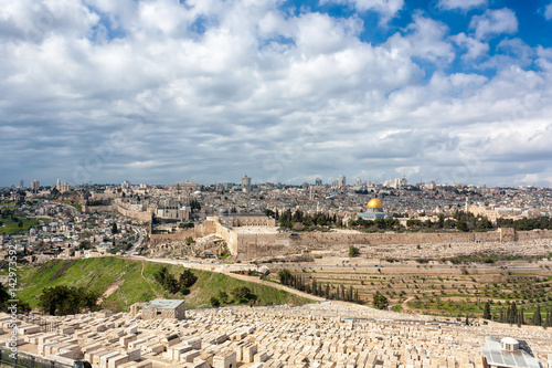 Fotomural Jerusalem Old City from the Mount of Olives