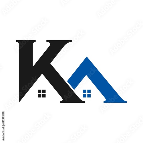 letter k and a logo icon design template elements vector color sign