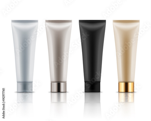 Fotografía Realistic plastic tubes for cosmetic products