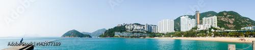 Fototapeta Panoramic scene of Repulse Bay Beach, Hong Kong in sunny day
