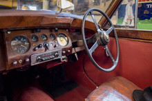 Interior Of An Old Classic Car...
