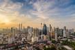 Kuala Lumpur city skyline when sunrise, Malaysia