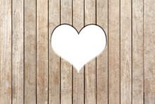 Coeur Sur Fond Bois