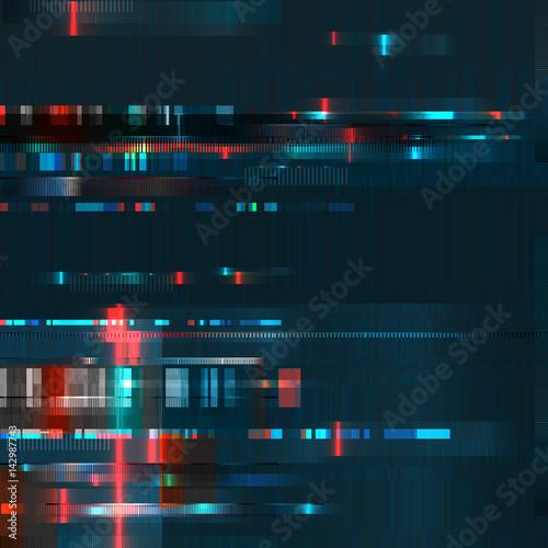 Glitch Error Signal Tv Failure Computer Abstract Blurred