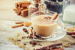 Masala tea. Selective focus.