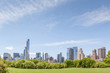 New York City Manhattan skyline panorama view from Central park.