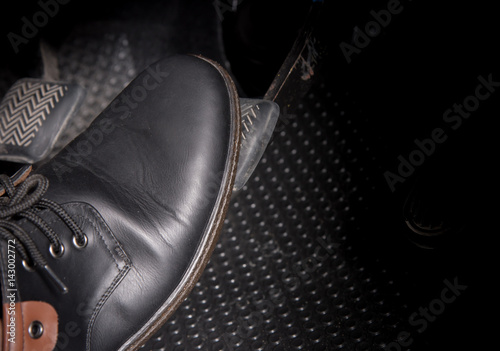 Fotografie, Tablou push accelerator pedal of the car