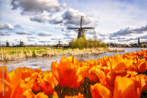 traditional-dutch-windmill-with