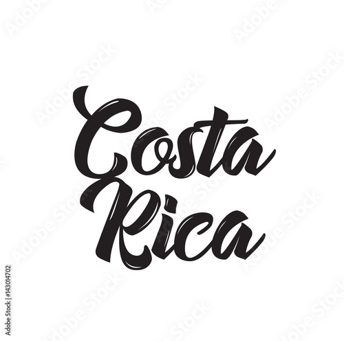 costa rica, text design. Vector calligraphy. Typography poster. Wallpaper Mural