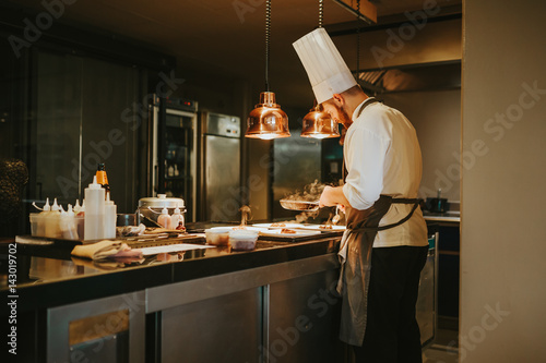The chef in the restaurant