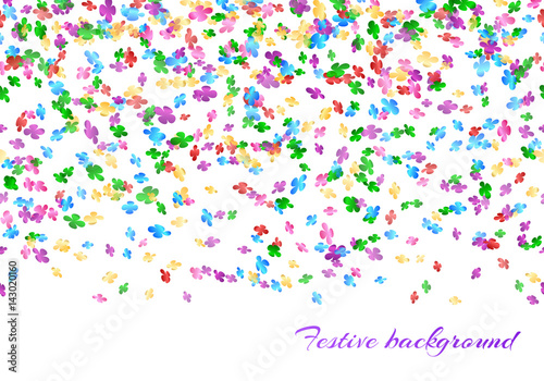 happy new year background with confetti seamless pattern