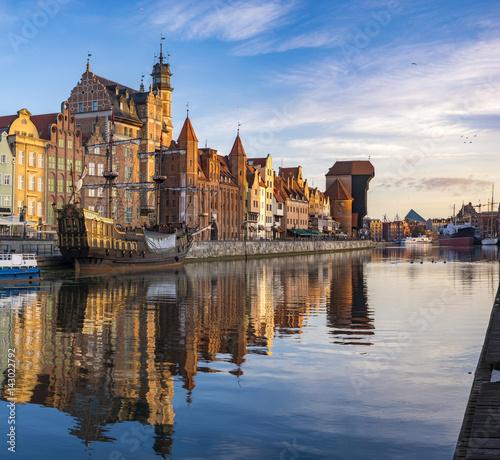 Fototapeta Gdansk city,Poland obraz na płótnie