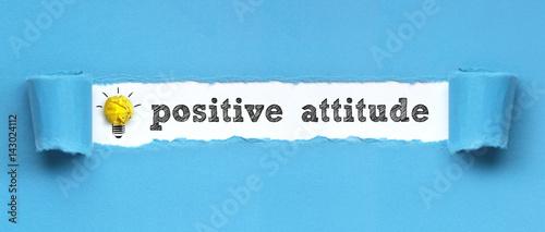 Fotografía  positive attitude / papier