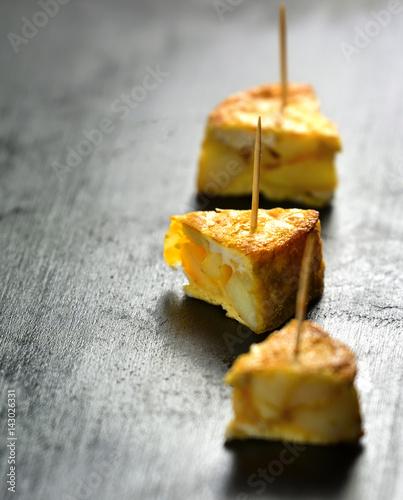 Spanish tapas. Tortilla de patatas