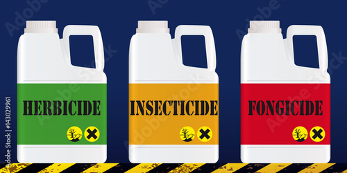 Fotomural pesticide - environnement - agriculture - pollution - nocif - bio - insecticide