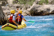 Wildwasserrafting im Team