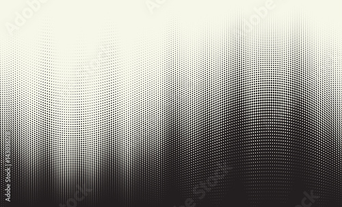 Vector halftone gradient Canvas Print