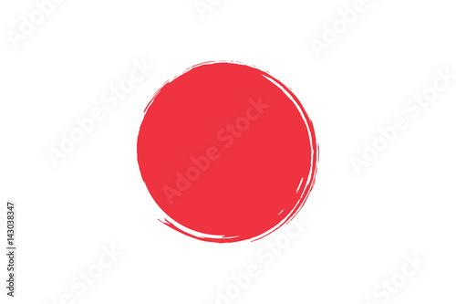 Fotografia  Flag of Japan with grunge effect