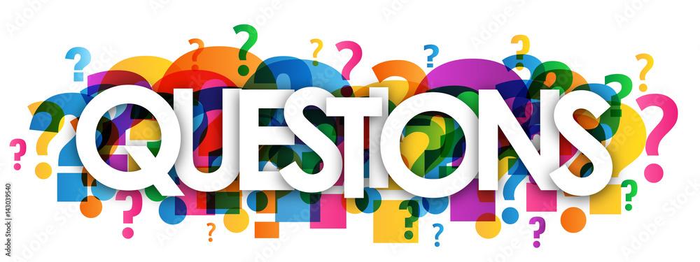 Fototapeta QUESTIONS? letters icon