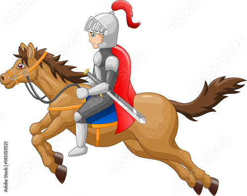 Poster Pony Knight horse shield sword