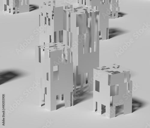 廃墟のイメージ Canvas Print