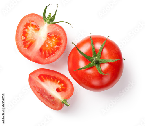 Fresh Tomatoes on White Canvas