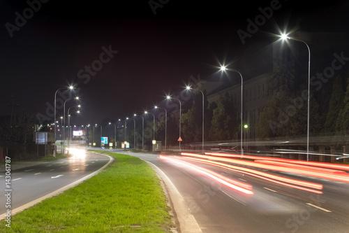 Pinturas sobre lienzo  Night urban arterial road, Nitra, Slovakia
