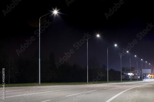 Fotomural Night urban arterial road, Nitra, Slovakia