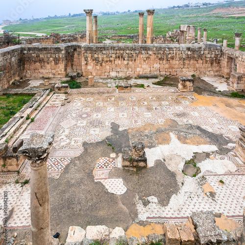 Fotobehang Midden Oosten ruin of byzantine church in Jerash city