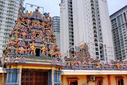 Fotografie, Tablou  Kuala Lumpur Malaysia - Sri Maha Mariamman Temple Dhevasthanam,