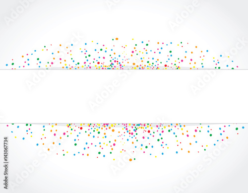 Light Background With Colorful Dots Texture Around A Space For Text To Use On Birthday