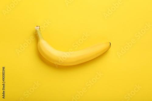 Fotografie, Tablou  Sweet banana on the yellow background