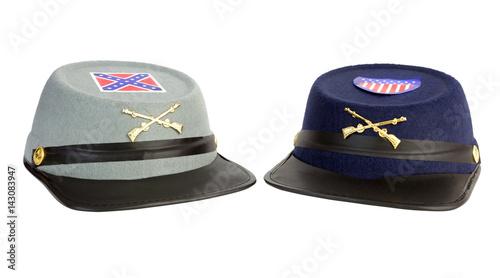 Fotografie, Obraz  Toy costume confederate and union American Civil War hats