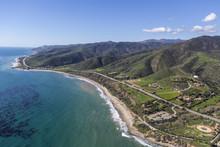 Nichols Canyon County Beach Aerial Malibu California