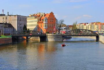 Wrocław, Mosty Młyńskie, Odra