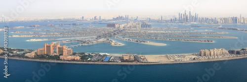 Photo  Dubai The Palm Palme Insel Atlantis Hotel Panorama Marina Luftaufnahme Luftbild