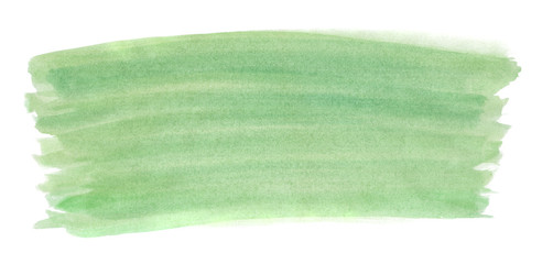 A fragment of the background in green tones painted with watercolors