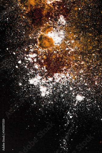 Printed kitchen splashbacks Spices vibrant splash of color
