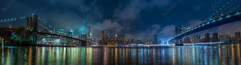 Fototapeta Manhattan panorama at night